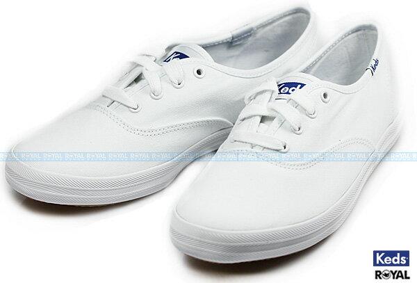 Keds 新竹皇家 CHAMPION WHITE CANVAS 白色 經典 休閒帆布鞋 女款 NO.I5062