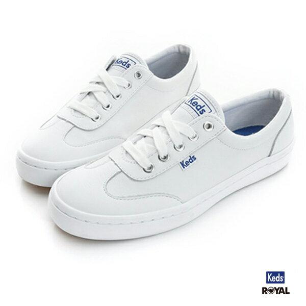 Keds 新竹皇家 TOURNAMENT 白色 皮質 休閒鞋 女款 NO.I7765 1