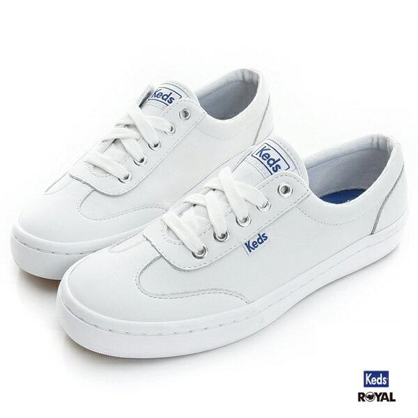 Keds 新竹皇家 TOURNAMENT 白色 皮質 休閒鞋 女款 NO.I7765 0