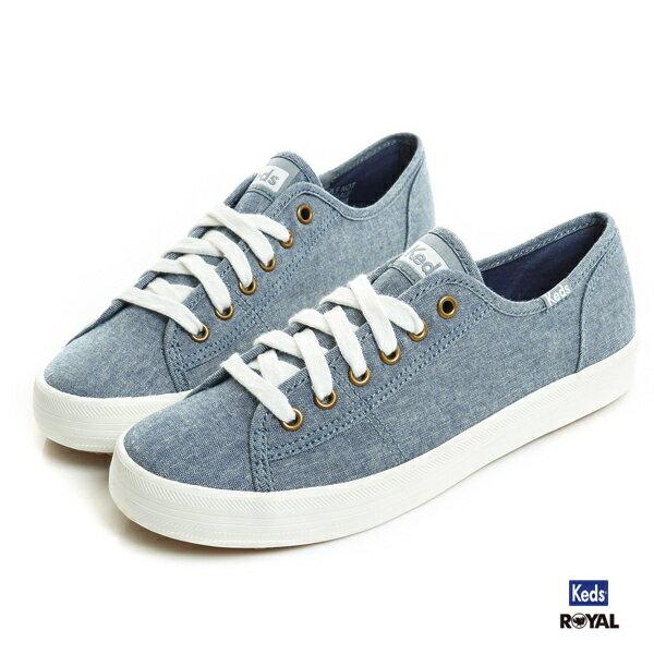 Keds新竹皇家KickStart藍色單寧帆布休閒鞋女款NO.I8295
