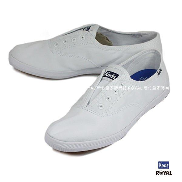 Keds新竹皇家CHILLAX白色布質休閒懶人鞋女款NO.I8479