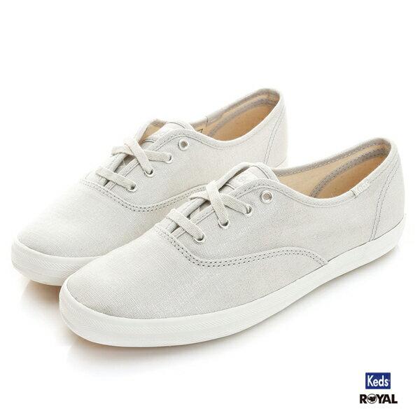 Keds新竹皇家CHMEYALLIC銀色布質休閒鞋女款NO.I8756