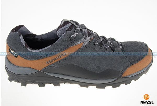 MERRELL 新竹皇家 FRAXION GORE-TEX 灰/咖 防水 運動鞋 男款 NO.A6940