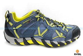 MERRELL 新竹皇家 WATERPRO MAIPO 藍/綠 快乾排水 水陸兩棲 運動鞋 男款 NO.A7507