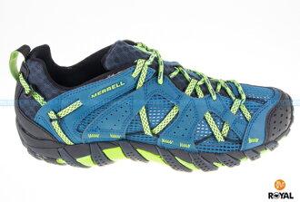 MERRELL 新竹皇家 WATERPRO MAIPO 藍/綠 快乾排水 水陸兩棲 運動鞋 男款 NO.A7632