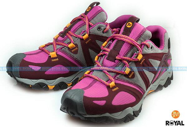 MERRELL 新竹皇家 GRASSBOW SPORT 紫紅/深灰 運動鞋 女款 NO.I3396