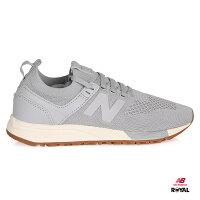 New Balance 美國慢跑鞋/跑步鞋推薦New Balance 新竹皇家  247 灰色 織布 輕量 套入式 運動鞋 男款 NO.A9654