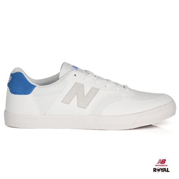 NewBalance新竹皇家300白色藍皮革布質休閒鞋男女款NO.A9666