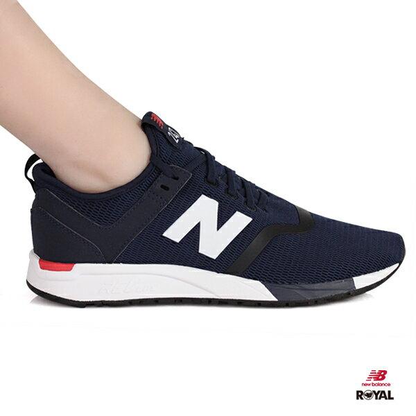 NewBalance新竹皇家247深藍紅網布輕量套入式運動鞋男女款NO.A9843