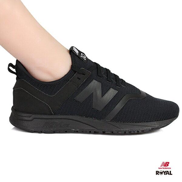 NewBalance新竹皇家247全黑色網布輕量套入式運動鞋男女款NO.A9844