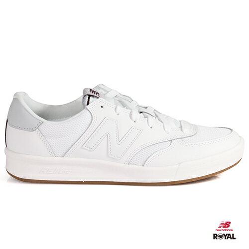 NewBalance新竹皇家300白色網布皮革膠底輕量休閒鞋男女款NO.A9942