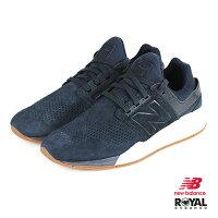 New Balance 美國慢跑鞋/跑步鞋推薦New Balance 新竹皇家 247 深藍色 麂皮 套入式 運動鞋 男款 NO.B0034