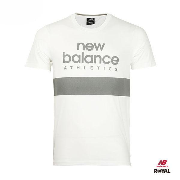 New Balance 新竹皇家 白色 灰字 排汗 運動短袖t恤 男女款NO.H1946
