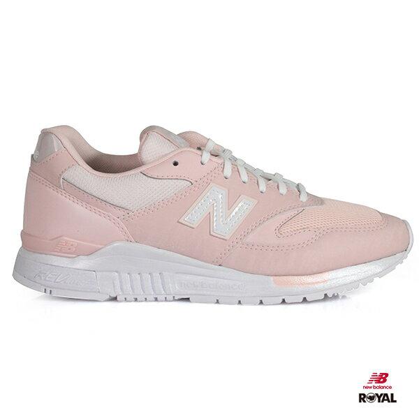 NewBalance新竹皇家840粉紅色晶透網布輕量慢跑鞋女款NO.I8416