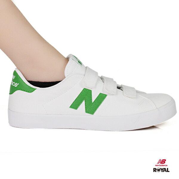 NewBalance新竹皇家210白色綠色魔鬼氈帆布鞋男女款NO.I8776