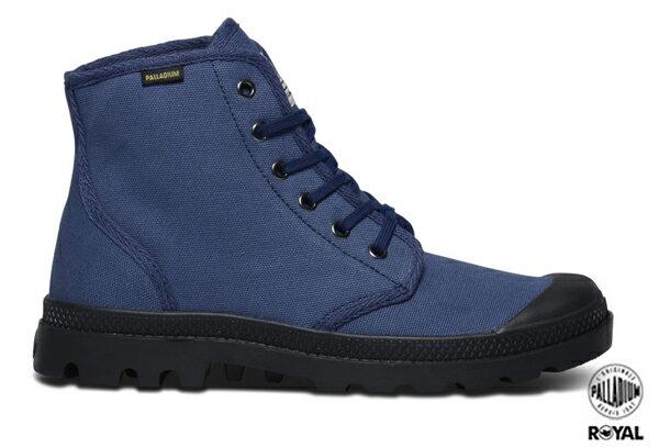 Palladium 新竹皇家 PAMPA HI ORIGINALE 藍/黑 布質 原創經典系列  休閒鞋 高筒 男女款 NO.A8500