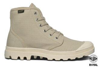 Palladium 新竹皇家 PAMPA HI ORIGINALE 淺卡其 布質 原創經典系列 休閒鞋 高筒 男女款 NO.A8501