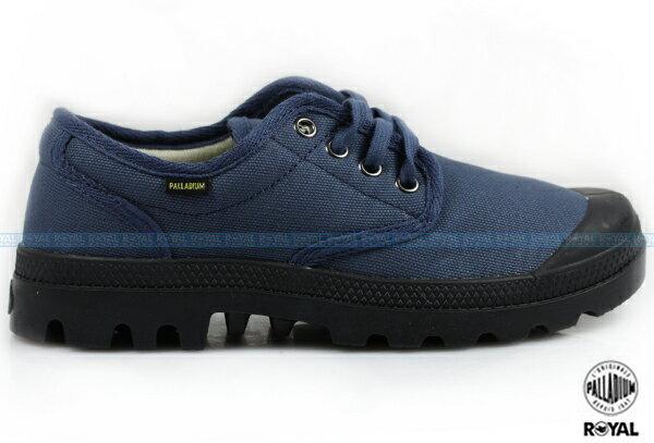 Palladium 新竹皇家 PAMPA OX ORIGINALE 藍/黑 布質 原創經典系列 休閒鞋 低筒 男女款 NO.A8503