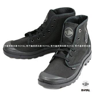 Palladium 新竹皇家 MONO CHROME II 黑色 彈道尼龍 防潑水 高筒靴 男款 NO.A8773