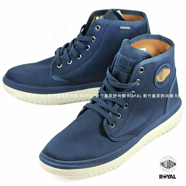 Palladium 新竹皇家 Crushion系列 藍色 棉質 帆布 中筒 休閒鞋 男款 NO.A9064