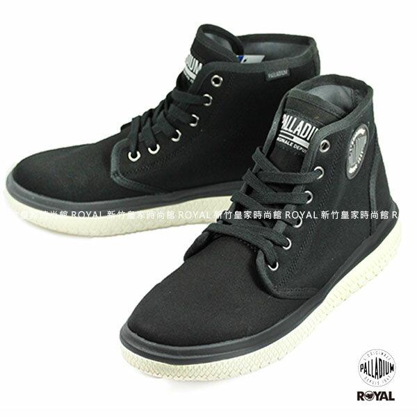 Palladium 新竹皇家 Crushion系列 黑色 棉質 帆布 中筒 休閒鞋 男款 NO.A9066