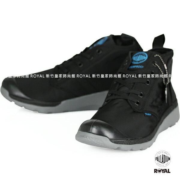 Palladium 新竹皇家 PALLAVILLE MID 防水系列 黑色 雨傘布 輕量 男女款 No.A9218