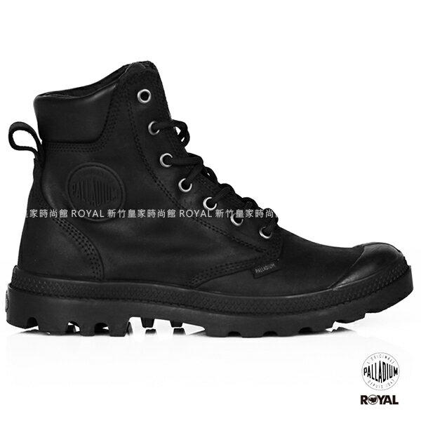 Palladium 新竹皇家 Pampa CUFF 黑色 防水系列 牛皮 軍靴 男女款 NO.A9307