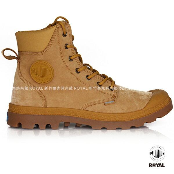 Palladium 新竹皇家 PAMPA CUFF 琥珀色 防水系列 皮質  軍靴 男女款 NO.A9381