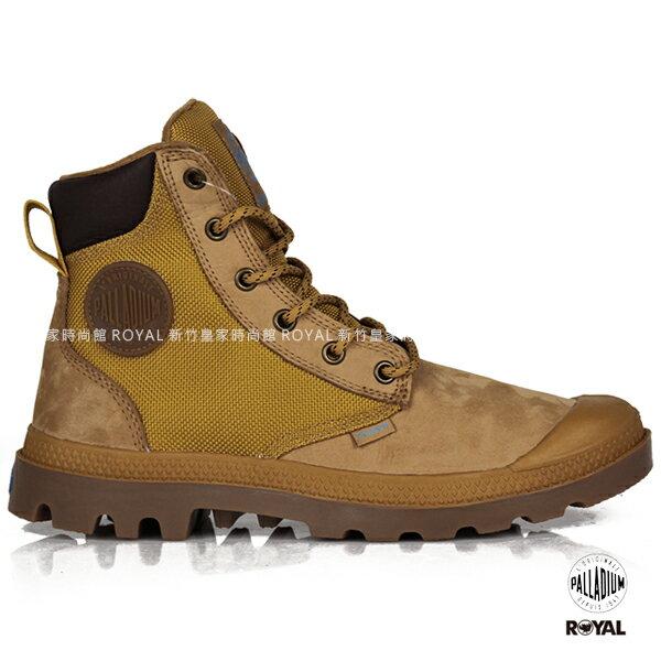 Palladium 新竹皇家 Pampa Sport 琥珀棕 防水系列 皮革 尼龍 軍靴 男女款 NO.A9407
