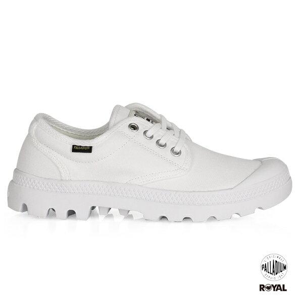 Palladium新竹皇家PAMPAOXORIGINALE白色布質原創經典系列休閒鞋低筒男女款A9684