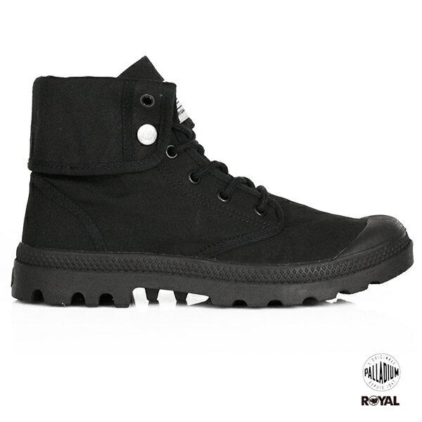Palladium新竹皇家BaggyArmy黑色布質反摺靴子男女款NO.A9685