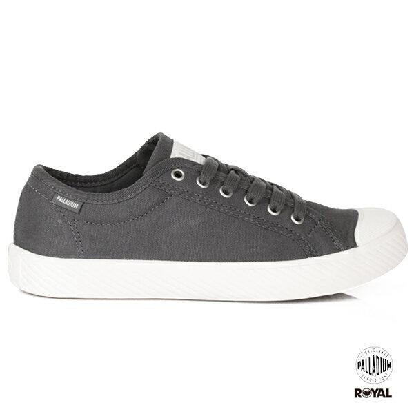 Palladium新竹皇家Pallaphoenix城市灰布質麂皮休閒鞋男女款No.A9702