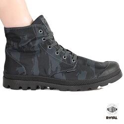 Palladium 新竹皇家 PampaPuddle 防水系列 黑迷彩 雨傘布 輕量靴 男女款 No.A9712