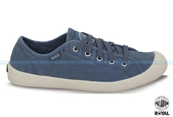 Palladium 新竹皇家 FLEX LACE 藍色 水洗布 休閒鞋 低筒 女款 NO.I4252
