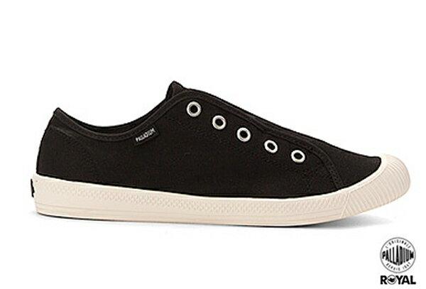 Palladium 新竹皇家 FLEX LACE ON  黑色 水洗布 免鞋帶 懶人鞋 低統 女款 NO.I6189