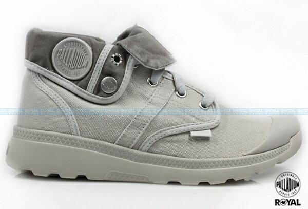 Palladium 新竹皇家 PALLAVILLE BAGGY CVS 灰色 水洗布 反折靴 女款 NO.I6580