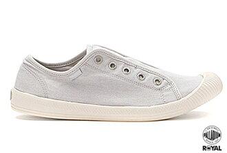 Palladium 新竹皇家 FLEX LACE ON 灰色 水洗布 免鞋帶 懶人鞋 低統 女款 NO.I6623