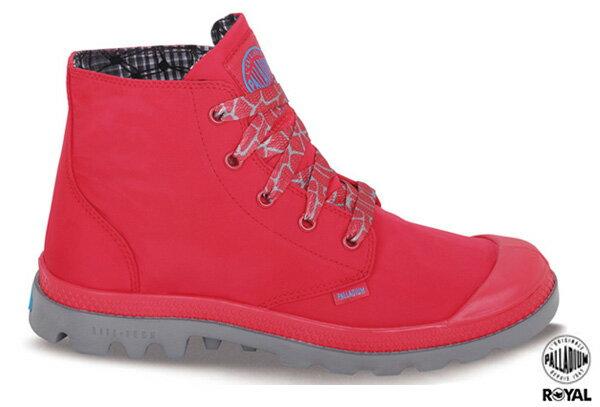 Palladium 新竹皇家 PALLAVILE LOW 紅色 雨傘布 防水 高筒 女款 NO.I6709