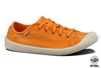 Palladium 新竹皇家 FLEX LACE 橘色 水洗布 休閒鞋 低筒 女款 NO.I6755