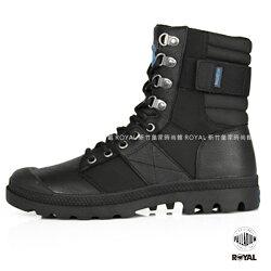Palladium 新竹皇家 Pampa NUE 黑色 防水 皮革軍靴 女款 NO.I8080