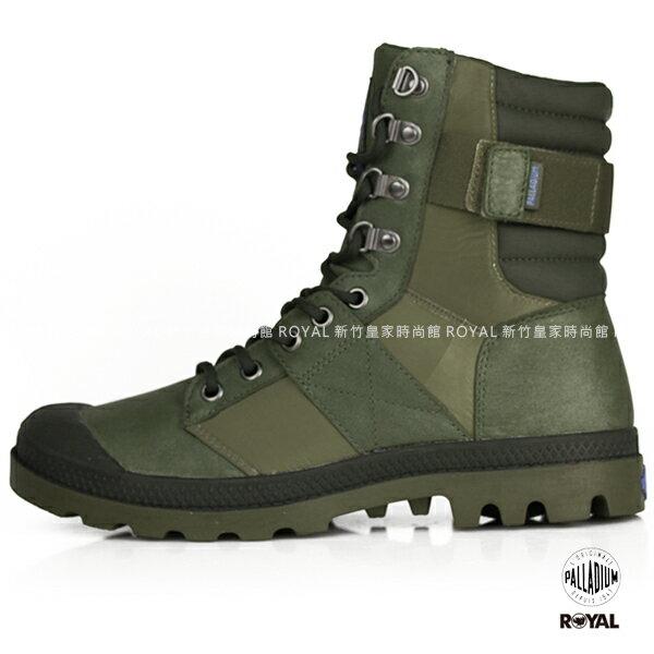Palladium 新竹皇家 Pampa NUE 墨綠 防水 皮革軍靴 女款 NO.I8081