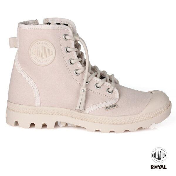 Palladium 新竹皇家 PampaFest 粉色 布質 側邊拉鍊 靴子 女款 No.I8305