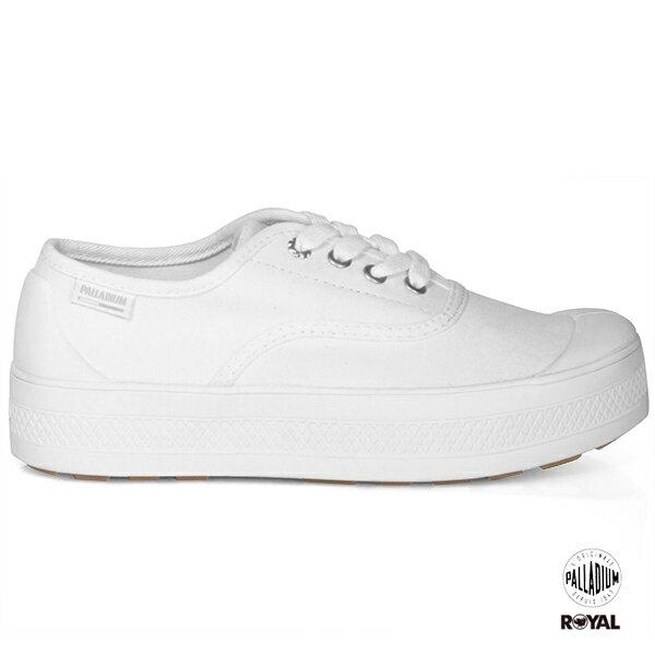 Palladium新竹皇家S_U_BLow白色布質麂皮厚底休閒鞋女款No.I8409
