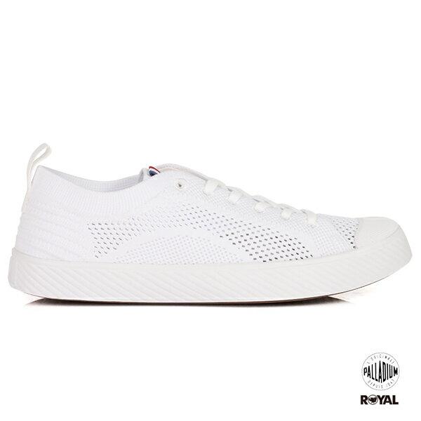 Palladium新竹皇家Pallaphoenix白色織布編織休閒鞋女款No.I8429