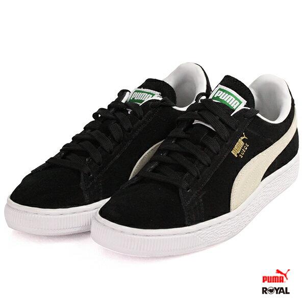 PUMA SuedeClassic 黑色 麂皮 休閒鞋 男女款 No.A7304【新竹皇家】