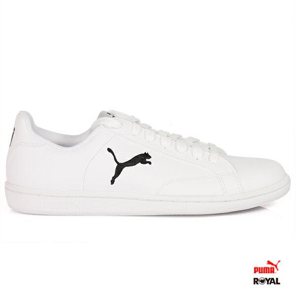 《限時特價6折》PUMA新竹皇家SmashCatL白色皮質運動鞋男女款NO.A8600