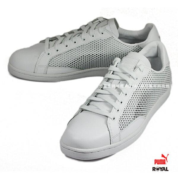 《限時特價6折》PUMA SUMMER SHADE 白色 皮質 洞洞 運動休閒鞋 男款.A8839【新竹皇家】