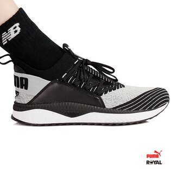 PUMA新竹皇家TSUGIJan灰黑混搭織布皮質套入式運動休閒鞋男款.A9462
