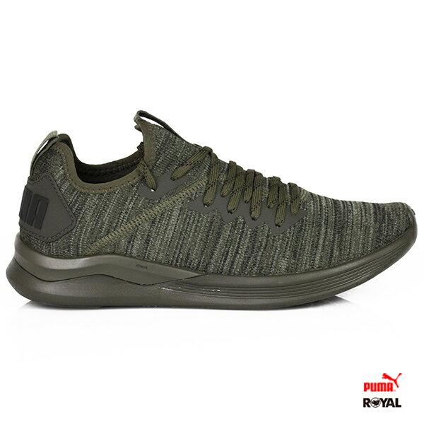 PUMA新竹皇家IGNITEFlash墨綠織布套入式運動休閒鞋男款.A9716