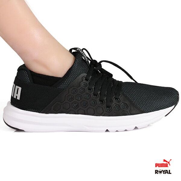 PUMA新竹皇家EnzoNF黑色織布套入式運動休閒鞋男款No.A9810